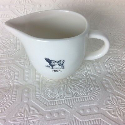 "Rae Dunn Artisan Collection by Magenta Creamer  "" Pour"" Milk Syrup Jar Cow"