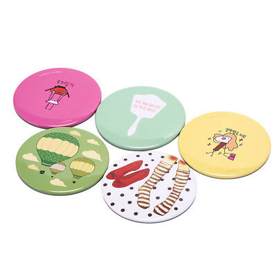 random color ladymakeup mirror cartoonportable compact pocket mini cute small HQ