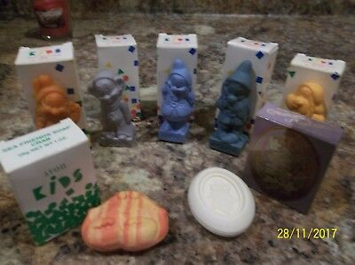 Vintage Avon Kids 5 - Seven 7 Dwarfs  soaps +  individually boxed+2 more soaps