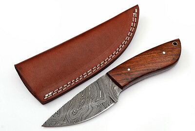Custom Twist Damascus Steel FULL TANG Drop Point Hunting/Skinner Knife Z8