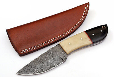 Custom Twist Damascus Steel FULL TANG Drop Point Hunting/Skinner Knife Z8A