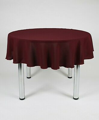 Round TABLE CLOTH / TABLECLOTH / TABLE COVER 100% Polyester not Cotton Washable