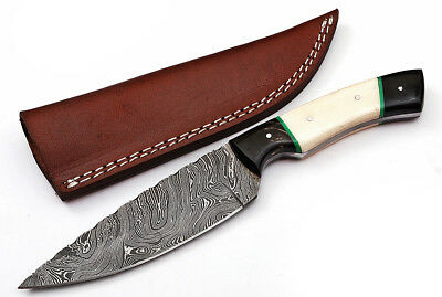 Custom Twist Damascus Steel Drop Point Hunting Knife Z10A By Baltimore Cutlery