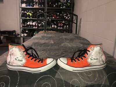 Converse Dr Suess How The Grinch Stole Christmas Shoes Mens Size 9.5 Womens 11.5