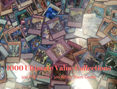 Yugioh Collection 1000 cards ( 500 foils 500 silver rares) *Great Gifts*