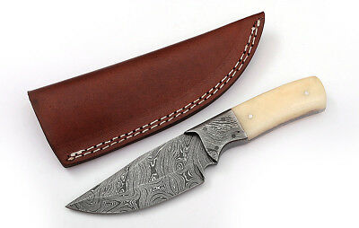 Custom Twist Damascus Steel FULL TANG Clip Point Hunting/Skinner Knife D9