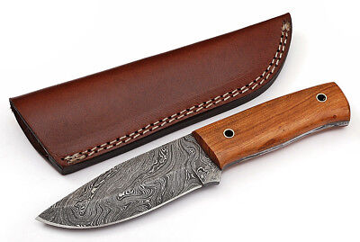 Custom Twist Damascus Steel FULL TANG Clip Point Hunting/Skinner Knife D30