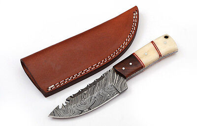 Custom Twist Damascus Steel FULL TANG Drop Point Hunting/Skinner Knife D8