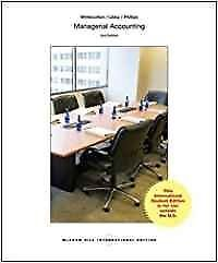 Managerial Accounting by Fred Phillips, Stacey M. Whitecotton, Robert Libby (Pa