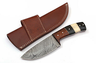 Custom Twist Damascus Steel FULL TANG  Drop Point Hunting/Skinner Knife D4
