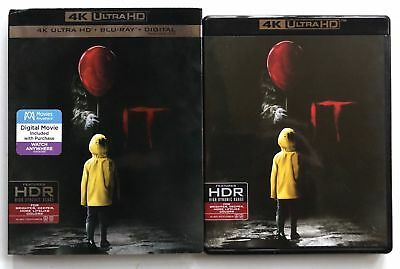 It 2017 4K Ultra Hd Blu Ray 2 Disc Set + Slipcover Sleeve Stephen King Horroruhd