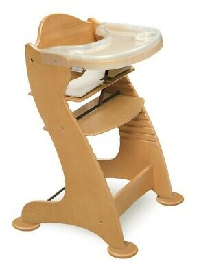 Embassy Adjustable Wood Baby Infant High Chair Natural NEW