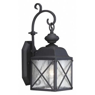 Wingate 1 Light 6 in. Outdoor Wall Fixture Clear Seed Glass  NUVO 60-5621