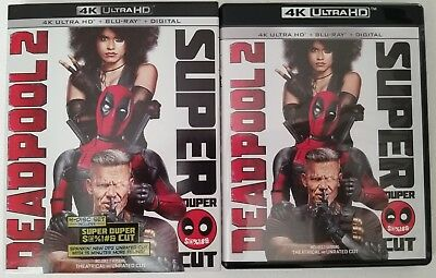 Marvel Deadpool 2 Super Duper Cut 4K Ultra Hd Blu Ray 4 Disc Set + Slipcover