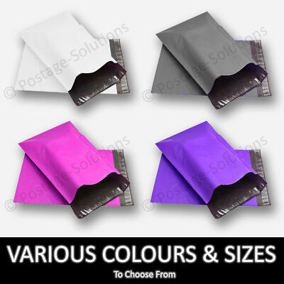 Coloured Polythene Plastic Mailing Postal Packaging Bags Strong Self Seal Strip