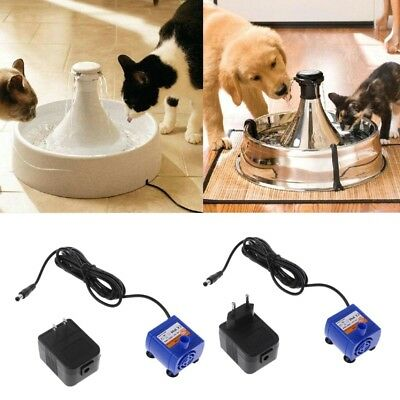 Automatic Pet Cat Water Drinking Fountain Silenced Fountain Pump Power Adapter
