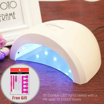 Professional SUN5 Led UV Nail Dryer Gel Polish Lamp Light Curing Machine 48W(US)