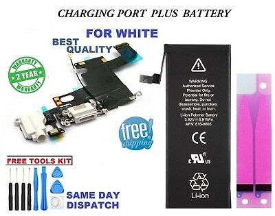 Compatible For iPhone 6 1810mAh Battery With White Charging Port+Free Tools+tape