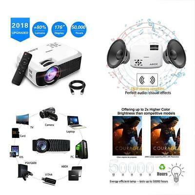 2018 Newest ABOX T22 Portable LCD Video Projector, Multimedia Home Theater 1080p
