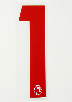 NUMBER 1 - 17 / 20 RED PREMIER LEAGUE ADULT SHIRT NUMBER SIZE = 230mm