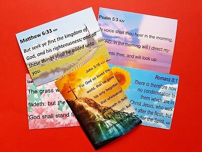 Bible Verses Quality Pack of 10 NEW Miniature Postcards Notecards 3.5 x 5 inch