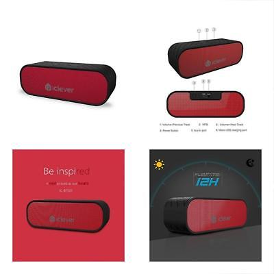 IClever 20W Portable Bluetooth Speakers (Two Subwoffers), Water Resistant, Dual