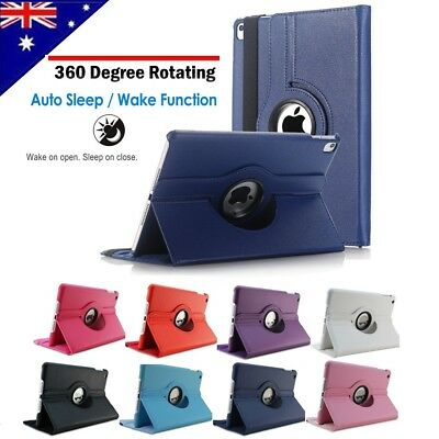 360 Leather Smart Case Cover for Apple iPad 2 3 4 5 6 Mini Air 2019 Pro 11 12.9
