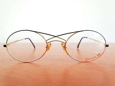 Vintage 24K gold plated CASANOVA  eyeglasses frames Size 52-20 Made in Italy