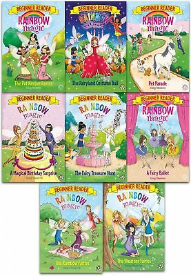 Rainbow Magic Beginner Reader Daisy Meadows Collection 8 Books Set Paperback NEW