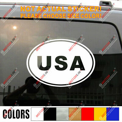 USA Oval Country Code American Car Decal Sticker Choose color and size