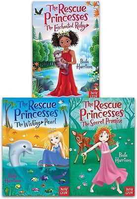 Paula Harrison Collection Rescue Princesses Secret Promise Enchanted 3 Books Set