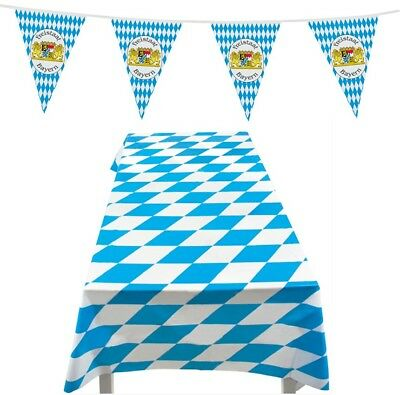 Oktoberfest German Beer Festival Bavarian Bunting Decoration Tablecloth Party