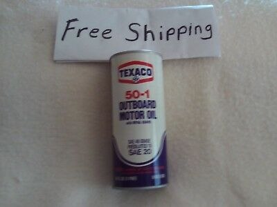 """""""new"""" Texaco Metal Outboard Motor Oil Can"""
