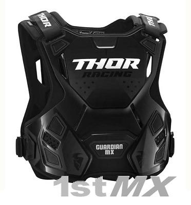 Thor Guardian MX Race Motocross Roost Chest Protector Body Armour Black Youth