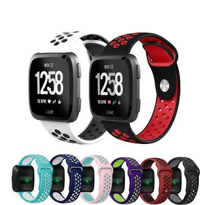 For Fitbit Versa Replacement Silicone Sports Band Strap