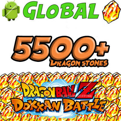🌟5500+ STONES 🌟 Android - Dokkan Battle - 5500+ Dragon Stones - Global🌟