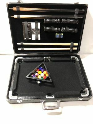 BRAND NEW THE Sharper Image Mini Pool Table With Carrying Case - Used mini pool table