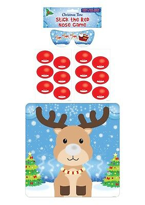 Stick The Red Nose reindeer Game Halloween Kids Child Party Tail Donkey Spooky