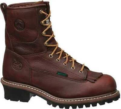 Work Boots,Steel,Mens,Brown,Size 8 GEORGIA BOOT G7313-080M