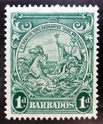 BARBADOS 1942 - 1d Perf 14 SG248b Cat £70 Mounted Mint NK60