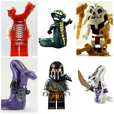 Ninjago lego Pythor Mini Figures Serpentine Lloyd Cole Jay Kai Sylor Pythor
