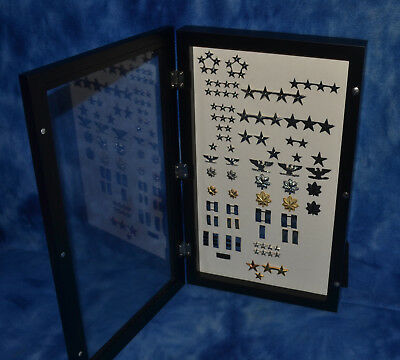 """Wood Display Case with stand 18 x 11 x 2 1/2 """" for Collectibles or Pins"""