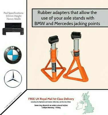 2x Adapters for your axle stands - designed for BMW and Mercedes jacking points