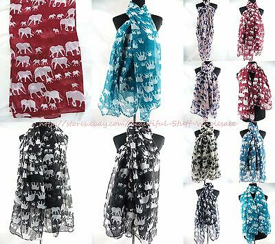 US SELLER-lot of 5 beach cover-up lucky elephant animal maxi scarves sarong