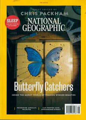 National Geographic Magazine August 2018 ~ Guest Edited By Chris Packham ~ New ~