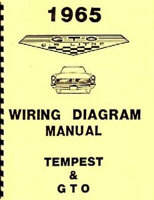 OEM Repair Maintenance Wiring Schematics Bound Pontiac Gto, Lemans, Tempest 1965