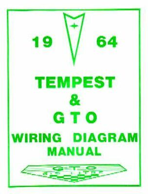 OEM Repair Maintenance Wiring Schematics Bound Pontiac Gto, Lemans, Tempest 1964