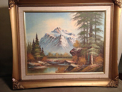 """Original """"Mountainscape"""" Painting -Signed And Framed"""