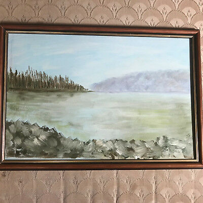 """Nice Barone 97 """"Landscape Scene"""" Oil Painting - Signed And Framed"""