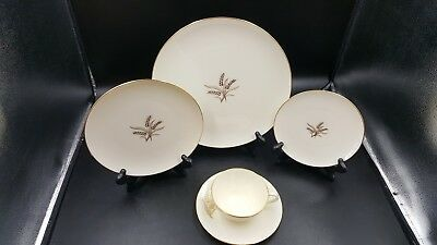Lenox  WHEAT 5 pc Place Setting Dinner Salad Bread Cup & Saucer